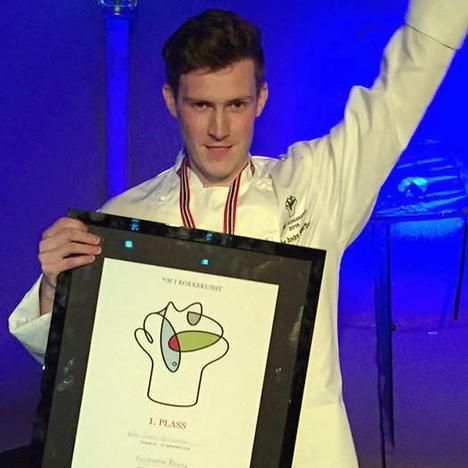 Brygga 11-kokk vant NM i kokkekunst